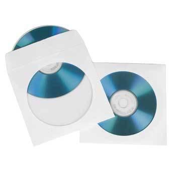 Конверт Hama на 1CD / DVD H-51174 белый (упак.:100шт)