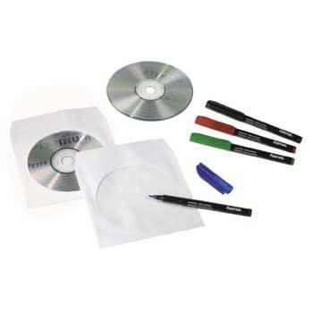 Конверт Hama на 1CD/DVD H-51174 белый (в упаковке:100шт) - фото 2