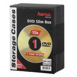 Коробка Hama на 1CD/DVD H-51181 черный (в упаковке:10шт) (00051181)