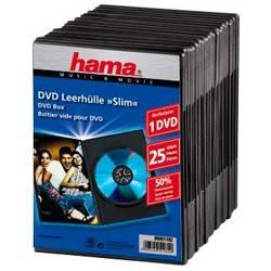Коробка Hama на 1CD/DVD H-51182 Jewel Case черный (в упаковке:25шт) (00051182)