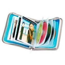 Портмоне Hama H-51300 Wallet для 28CD полипропелен/текстиль синий/серый  - фото 2