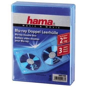 Коробка Hama H-51468 Jewel Case двойная для Blu-ray дисков 3шт синий  - фото 1