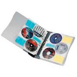 Портмоне Hama для 12CD transparent/graphit папка на кольцах+20 файлов на 6 дисков (H-62612) - фото 2