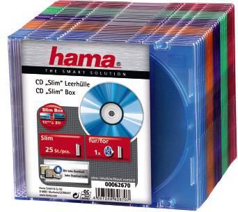 Коробка Hama H-62670 для 1 CD Slim 25 шт. 5 цветов  - фото 2