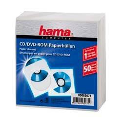 Конверт Hama на 1CD/DVD H-62671 белый (в упаковке:50шт) (00062671)