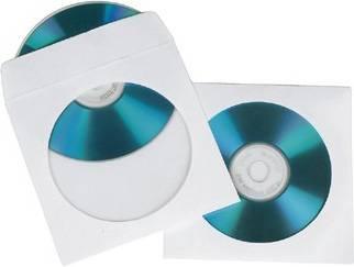 Конверт Hama на 1CD/DVD H-62672 белый (в упаковке:100шт) (00062672)