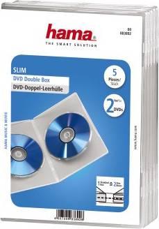 Коробка Hama на 2CD/DVD H-83892 Slim Case прозрачный (в упаковке:5шт) (00083892)