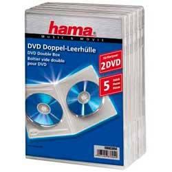 Коробка Hama на 2CD/DVD H-83894 Jewel Case прозрачный (в упаковке:5шт) (00083894)
