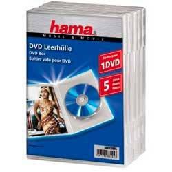 Коробка Hama на 1CD/DVD H-83895 Jewel Case прозрачный (в упаковке:5шт) (00083895)