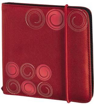 Портмоне Hama на 24CD/DVD Up to Fashion H-95669 красный (в упаковке:1шт) (00095669)
