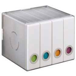 Коробка Hama на 96CD/DVD H-96104 белый (в упаковке:4шт) (00096104)
