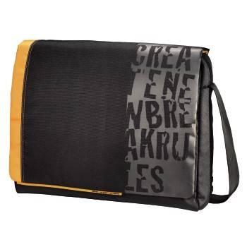 """Сумка для ноутбука 15.6"""" Aha Urban Styles Messenger черный/оранжевый - фото 1"""