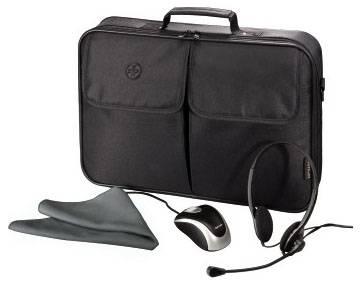 """Сумка для ноутбука 17.3"""" Hama Starter-Kit черный - фото 1"""