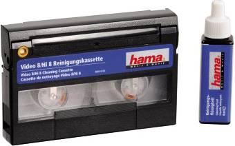 Чистящая видеокассета Hama H-44702 Video 8/Hi8 (с жидкостью) - фото 1