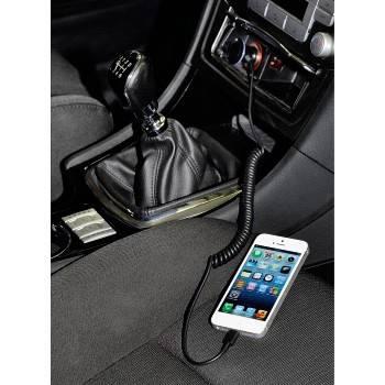 Зарядное устройство Hama H-102090 автомобильное для iPhone 5 MFI витой кабель черный  - фото 2