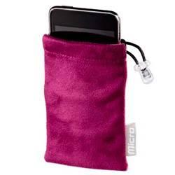 Чехол Hama H-91227 для MP3 плеера Universal CareBag 2.5 х 1.5 х 6 см микрофибра черный/малиновый  - фото 1