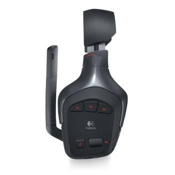 Наушники с микрофоном Logitech PC G930 Wireless черный - фото 5
