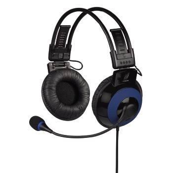 Наушники с микрофоном Hama uRage Vibra черный/синий (00113721) - фото 1