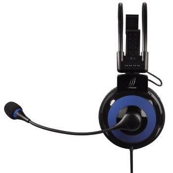 Наушники с микрофоном Hama uRage Vibra черный/синий - фото 2