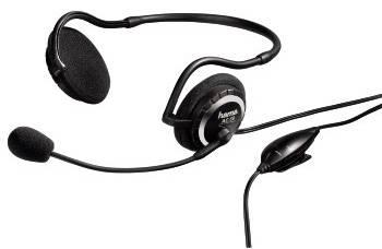 Наушники с микрофоном Hama H-11570 черный/серебристый - фото 1