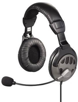 Наушники с микрофоном Hama CS-408 черный - фото 1