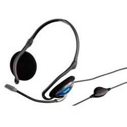 Наушники с микрофоном Hama CS-498 Neck(42498) черный/синий - фото 1