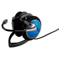 Наушники с микрофоном Hama CS-498 Neck(42498) черный/синий - фото 2