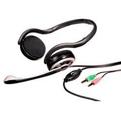 Наушники с микрофоном Hama HS-200 черный/серый - фото 1