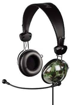 Наушники с микрофоном Hama H-51603 камуфляж - фото 1