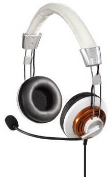 Наушники с микрофоном Hama HS320 (51619) белый - фото 1