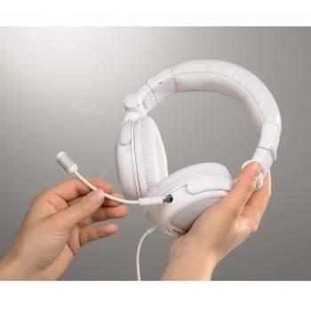 Наушники  с микрофоном Hama White Voice оголовье/складные (H-51671) - фото 4