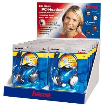 Наушники с микрофоном Hama HS-55 (1 гарнитура) - фото 1