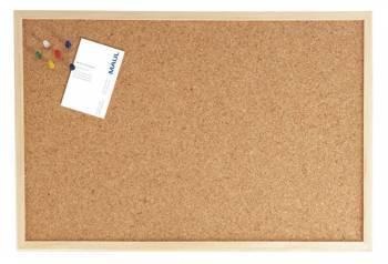 Демонстрационная доска Hebel Maul Weiss 2704070 пробковая 40x60см деревянная рама коричневый