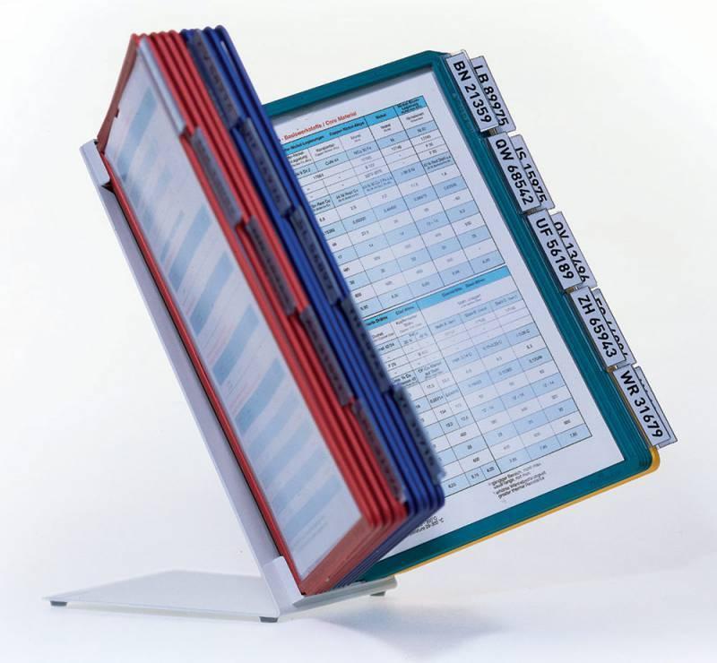 Дисплейная система Durable Sherpa Vario настольная металл (20 панелей настольный модуль табуляторы) - фото 2