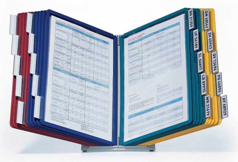 Дисплейная система Durable Sherpa Vario настольная металл (20 панелей настольный модуль табуляторы) - фото 3