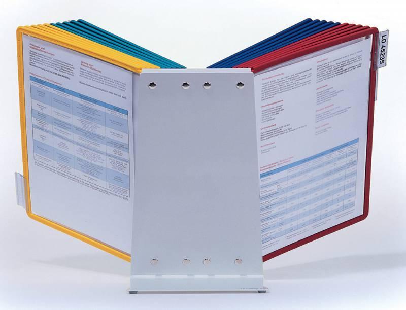 Дисплейная система Durable Sherpa Vario настольная металл (20 панелей настольный модуль табуляторы) - фото 4