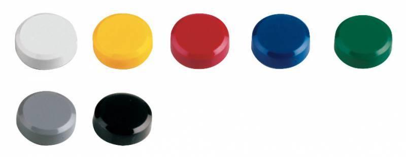 Магнит для досок Hebel Maul 6176199 разные цвета d=20мм круглый (упак.:20шт) - фото 1