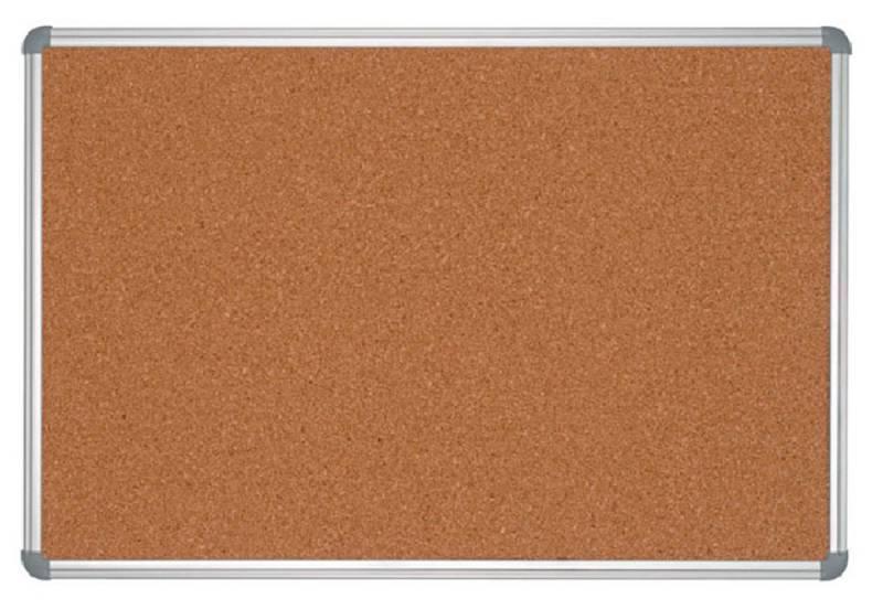 Демонстрационная доска Hebel Maul Office 6279084 пробковая 90x120см алюминиевая рама серый - фото 1