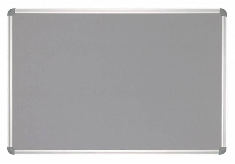 Демонстрационная доска Hebel Maul Office 6279184 текстильная 90x120см алюминиевая рама серый - фото 1