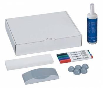 Набор для досок Hebel Maul 6386099 4 маркера/5 магнитов/стиратель/салфетки/спрей-очиститель