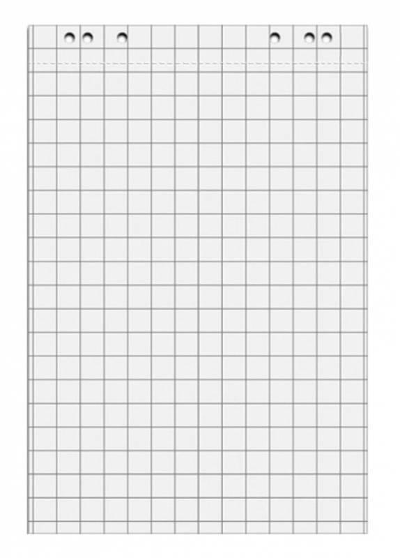 Блок бумаги для флипчартов Hebel Maul 6387802 клетка - фото 1