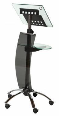 Пюпитр для выступлений Rocada Forum 3070 металл/закаленное стекло на роликах регулировка высоты