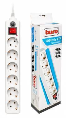 Сетевой фильтр Buro 600A-5M 5м белый