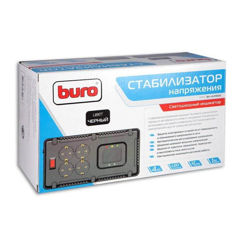 Стабилизатор напряжения Buro BU-AVR600 - фото 1