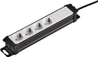 Сетевой удлинитель Hama H-47820 1.5м черный - фото 1