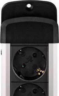 Сетевой удлинитель Hama H-47855 1.5м черный - фото 2