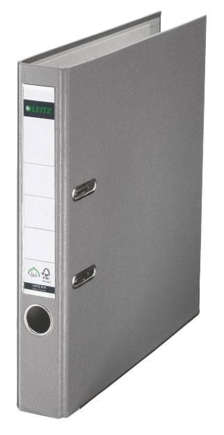 Папка-регистратор Esselte Leitz 10151285P пластик серый - фото 1