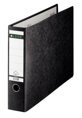 Папка-регистратор Esselte Leitz 10730000 картон черный мрамор - фото 1