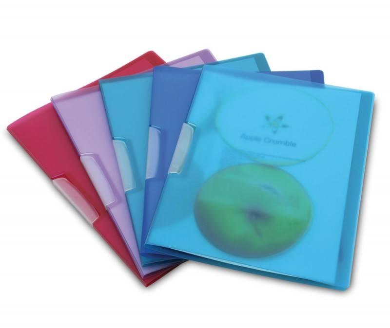 Папка с клипом Rapesco 1043 ECO биоразлагаемый пластик формат А4+ до 20 листов прозрачный - фото 1