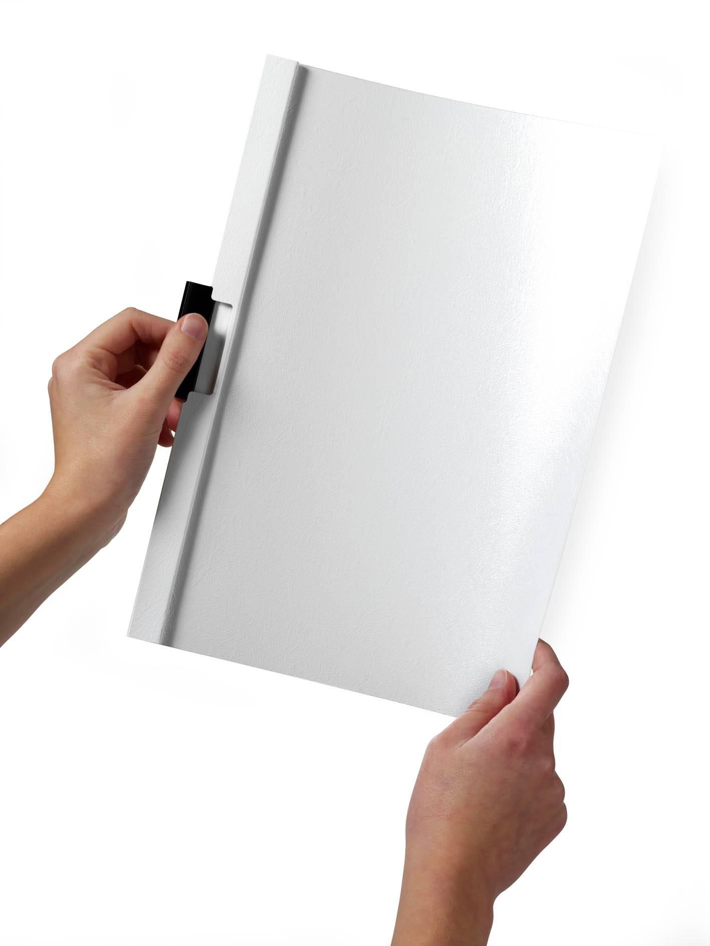 Папка-клип Durable Duraclip 30 с верхним прозрачным листом 1-30 листов белая - фото 1